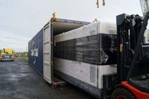 Transport d'un groupe électrogène 750 kVA GELEC