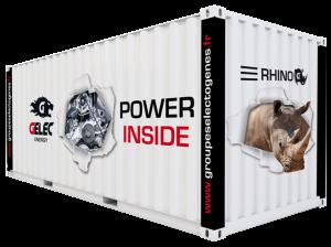 Gelec Rhino - Groupe électrogène conteneurisé Rhino