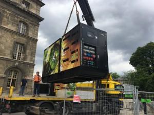 Levage de groupes électrogènes à l'huile végétale à Paris