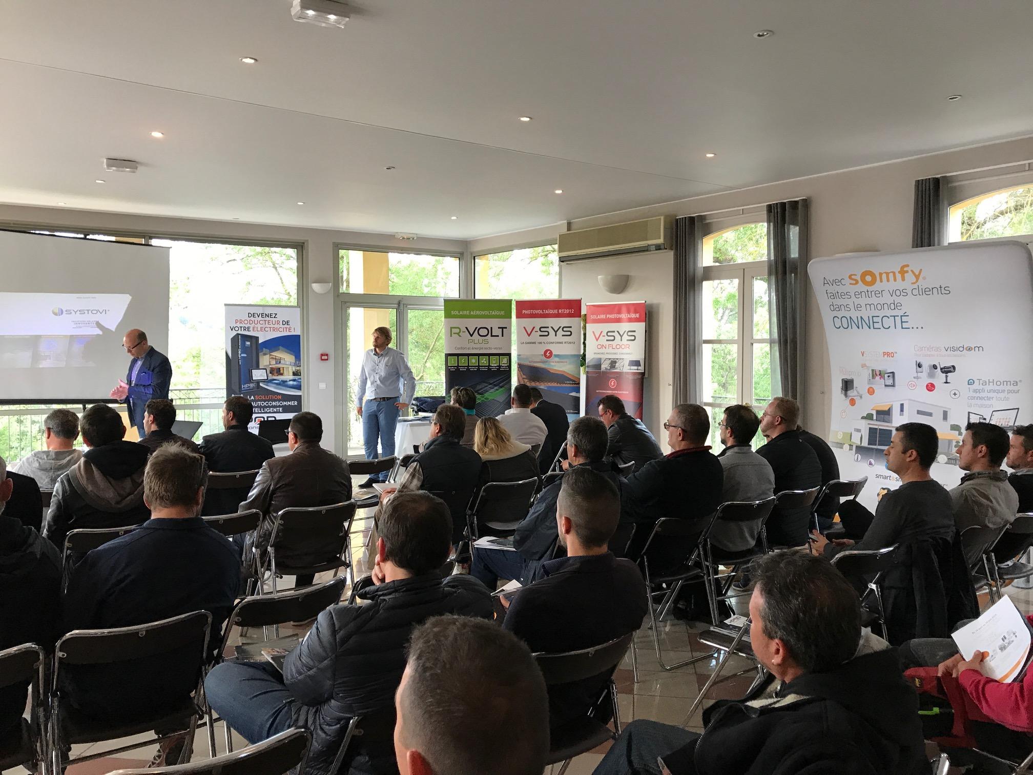 """Participation d'Hybrid Energy à la réunion REXEL : """"Le bâtiment : énergie positive"""""""