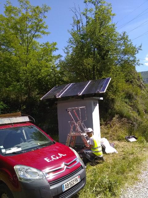 HPOD solaire pour edf tarascon-sur-ariege face
