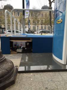 Installation de HPOD Mini à Paris pendant la COP21 en collaboration avec IKEA