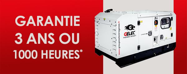 Garantie groupe électrogène GELEC