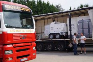 Delivery of gensets to Bouglione circus