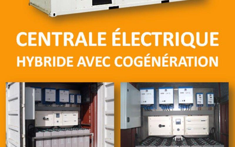 Centrale électrique hybride conteneurisée