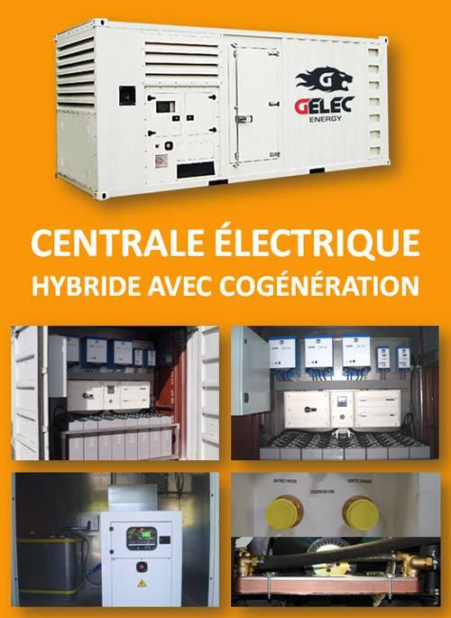 Centrale électrique hybride avec cogénération