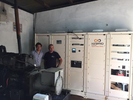INSTALLATION OF A POWER CABINET ON THE ISLAND OF OUEN