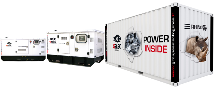 GELEC gensets range from 8 to 2060 kVA