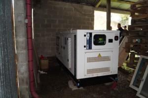 Groupe électrogène en secours d'un élevage de vaches laitières