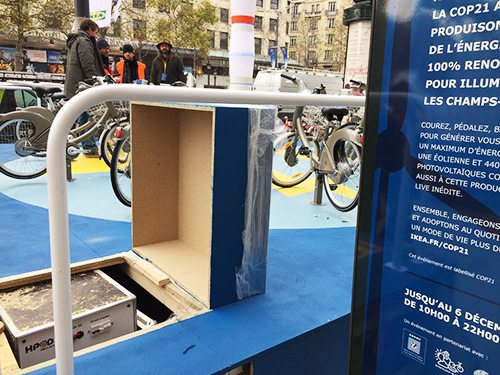 A HPOD in the Champs Elysées for IKEA event