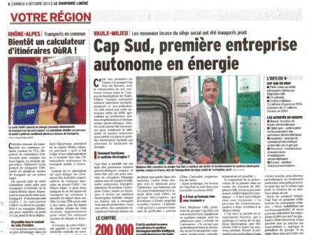 Article presse sur l'installation hybride GELEC à Lyon