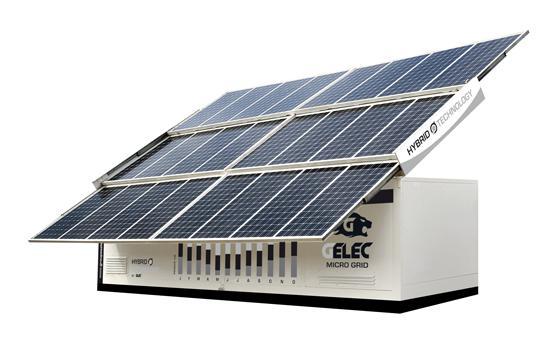 Centrale électrique hybride GELEC