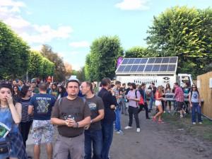 GELEC's Hybrid Power Station at Rock En Seine festival in Paris
