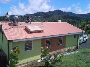 Installation of photovoltaic panels in Martinique